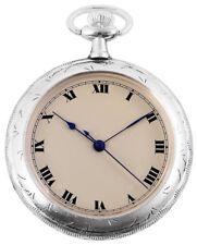 Taschenuhr Creme Silber Analog Quarz Metall Römische Ziffern D-60547185486575