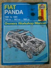 HAYNES MANUAL FIAT PANDA 1981 TO 1991 (No 793)