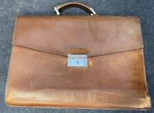 Prada Mens Brown Leather Satchel Bag Or Briefcase