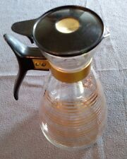 Vintage 1960's Pyrex coffee pot with lid