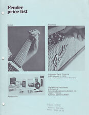 #MISC-0582 - APRIL 10 1970 FENDER GUITAR musical instrument catalog price list