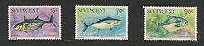ST. VINCENT Scott 472 - 474 Fish MNH F-VF