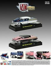 1957 MERCURY TURNPIKE 2 CAR SET IN BLISTER PACK 1/64 M2 AUTO THENTICS 31500-20B