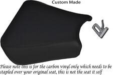Fibre de carbone vinyle 00-01 custom fits honda cbr 900 avant housse siège en vinyle rider