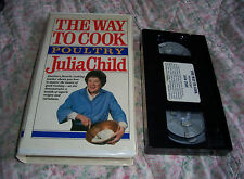 JULIA CHILD The Way to Cook Poultry COOKING WITH CHICKEN ON VHS CLASSIC