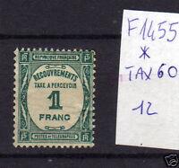 FRANCOBOLLI FRANCIA NUOVI* TAX N°60 (F1455)