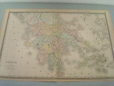RARE 1888 ANTIQUE MAP OF GREECE
