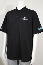 Antigua Men's LARGE Big Brothers Big Sisters Oklahoma SS Black Golf Polo Shirt