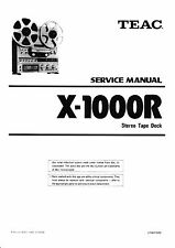 Service Manual-Instructions pour teac x-1000r