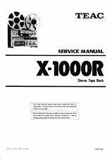 Service Manual-Anleitung für Teac  X-1000R
