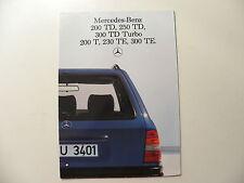 Catalogue / brochure MERCEDES-BENZ 200 TD , 250 TD , 300 TDT , 200 T , 230 TE