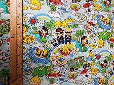 Trans-Pacific Textiles Anime MY-13-108 Aqua COTTON FABRIC  BTY