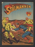 Superman - Stålmannen - DC Comics - 1958 Vintage Swedish Comic #Nr 13