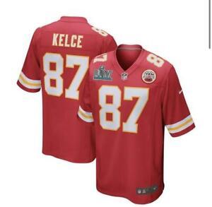Travis Kelce Kansas City Chiefs Red Nike SBLIV Patch Game Jersey