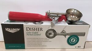 NEW Vollrath #24 Thumb Action Disher w/ Red Handle, Model #47145 - 10 Available