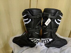 Fox Racing Comp Boots Mens Size US 11 EU 45 Black White