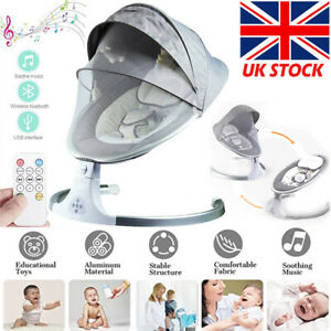 Bluetooth Electric Rocker Baby Swing Infant Cradle Bouncer Seat Chair Music Toys
