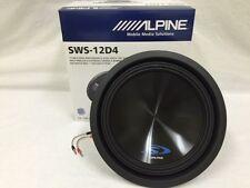 "SWS-12D4 ALPINE 12"" SUB DUAL 4-OHM TYPE-S 1500W MAX CAR SUBWOOFER SPEAKER NEW"