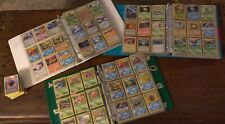 3 vintage pokemon card binder collections over 600 cards!  Base/1st edition/holo