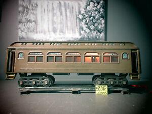 LIONEL PREWAR STANDARD GAUGE 418 NYC MOJAVE LIGHTED PARLOR PASSENGER CAR .