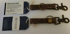 2 RUSTICO SUPER LOOP LEATHER KEYCHAINS:FREE SHIPPING