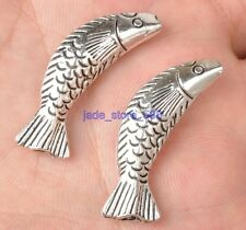 10pcs  tibetan silver charm fish loose the spacer beads    beads E3320