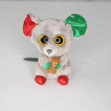 TY Beanie Boos Mac the Mouse Small 6 Inch Gray Xmas Plush Stuffed Animal