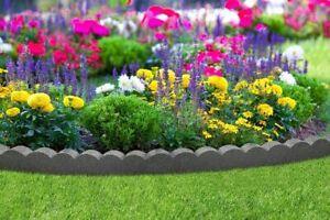 Primeur Graphite Flexi Curve 1.2 Metre Edging Lawn Scallop Curve Border Garden