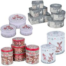 Christmas Jars Storage Tin Container Tea Cookie Biscuit Sweet Canisters Xmas NEW