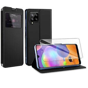 Coque Etui pour Samsung Galaxy A12 + Verre Trempé