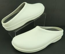 Pro Klogs White Textured Polyurethane Slip On Mule Clogs Comfort Shoe Women's 11
