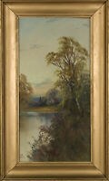 Framed 20th Century Gouache - By The River Bed