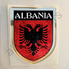 Albania Sticker Resin Domed Stickers Flag Grunge 3D Adhesive Decal Gel Car