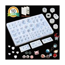 10 Pack Resin Silicone Molds LET'S RESIN Cabochons Molds for Resin, Clay, Jew...