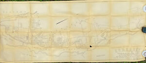 Vtg 1951 Map Of The Town Of Somerset MA Huge 84X34 Street Plan Zoning Map AS IS
