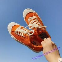 Hot Sale Womens Shoes Canvas Lace Up Casual College Style Flats Summer New Size