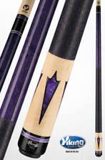 Viking 2pc Pool Cue 13 mm Tip Billiards Vikore new purple Arrow free Glove
