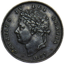 More details for 1827 third farthing - george iv british copper coin - nice