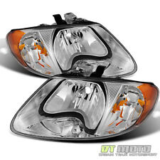 2001-2007 Dodge Caravan Town & Country 01-03 Voyager Headlights Headlamps Pair
