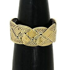 Artisan Hand Woven Brass Cuff Bracelet from Taxco