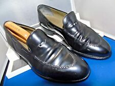 FOSTER & SON -LONDON CLASSIC ELEGANT BLACK LOAFER SHOES UK 8.5 EU 42.5