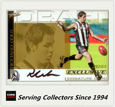 2002 Select AFL SPX Card Draft Pick Gold Signature DS11 Richard Cole(Colling.)