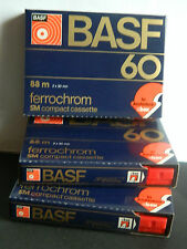 3 x BASF ferrocromo 60 SM Compact Cassette Type III 1977-1979 C-BOX NUOVO OVP