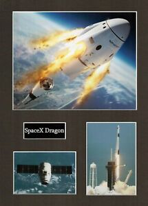 SPACEX Dragon 1 16 x 12 Photo Montage Display B, ISS Space EXPLORATION Falcon 9