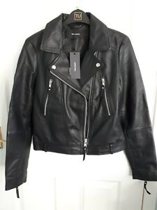 Womens genuine 100% leather jacket size small