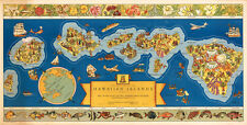 Dole Map of the Hawaiian Islands U.S.A 1937 75cm x 38.2cm Quality Art Print