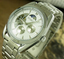 Luxury Stainless Steel 12/24 Self Winding Automatic Mechanical Men's Wrist watch