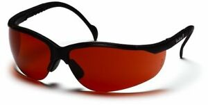 Pyramex Venture 2 Safety Glasses with Black Frame and Blue Block Bronze Lens