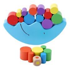 Wooden Montessori Moon Blocks  Balance Game Toys Kids Educational Toy Gift LD
