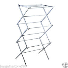 Folding Clothes Drier Airer Drying Rack 3 Tier Chrome Indoor Outdoor
